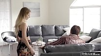 Small tits stepdaughter willing to help her ste...