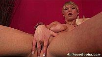 hot babe with extreme big naturals Thumbnail