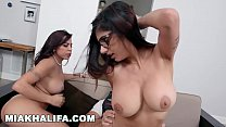 MIA KHALIFA - Arab Goddess In Hijab, Taking Infidel Dick Alongside Her Stepmom's Thumb