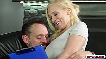 Blonde babe Bailey pounded hard by an old guy's Thumb