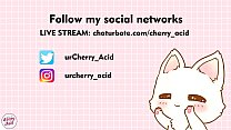 cosplay cherry acid fuck pussy and cum inside webcam