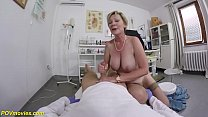big boob hairy 71 years old granny in sexy stoc...