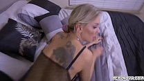 Stepmom lets her stepson bang her milf twat from behind doggystyle position!