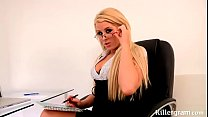 Boss has left work and lustful secretary fucks ...