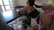 Maid Blowjob and Hard Sex until Wife Sees - Clo...