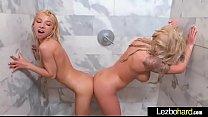 Lesbians Brandi Bae & Kenzie Reeves in bathroom...