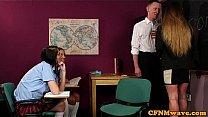 CFNM femdom wanking off teachers cock Thumbnail