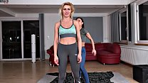 Sexy Girls Wrestling Jeans and Leggins Fight Scissors Domination Thumbnail