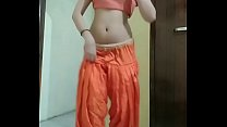 Belly dance perform by beautiful girl