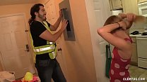 Electrician Fixes The Horny Teen Big Time