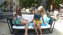Blonde teen can't wait for her best friend to s...