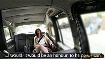 Watch Hottie office manager gets rammed hard in the taxi preview