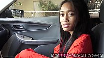 Car sex with hot black teen straight outta jail