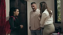 Young mistress visits the house of the husband with a BS story
