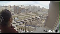 Eager bang on a hidden web camera Thumbnail