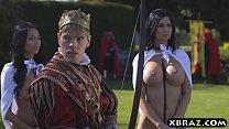 big tits 3gp video - King fucks his busty woman Thumbnail