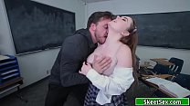 19yo college babe fucked by her classmate on their classroom's Thumb