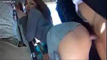 School girl Full fuck on public bus