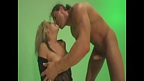 Shaped blonde doll takes a cumshot on her big t...