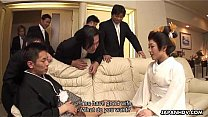 Asian wife shared by a group of horny men