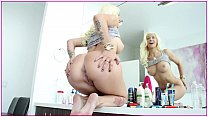 Sexy Stevie Shae bounces her silky white ass on...