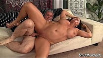 Mature cock bangs dark haired MILF