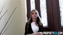 Property Sex - Sexy petite real estate agent tricked into fucking on camera's Thumb