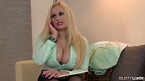 Busty lovers get off over top-heavy blonde Ange...