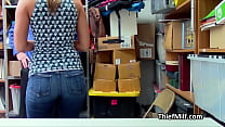Asian house wife sucks cock at the office