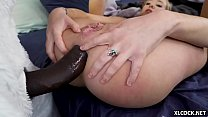 Big Surprise! - BBC in Tiny White Girl's Ass