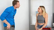 Watch Stepdaughter teen brutallty banged by her mad stepdaddy preview