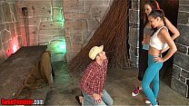 Alexis Grace and Michelle Peters Ballbusting CBT Femdom Thumbnail