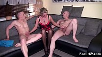 Father and StepSon Seduce German Mother to Sex Togehter in hard 3some Thumbnail