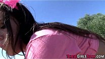 Slutty teen gives public blowjob pov style and ...