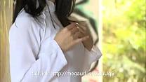 diễn viên nhật bản trong tà áo dài trắng / clip...