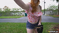 Redhead sluts fucked hard in a moving van