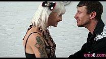Emo blonde with tattoos Kleio Valentine sex in the kitchen Thumbnail