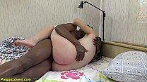cute teen gets rough first time interracial big...