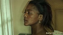 hot busty african babe fucked