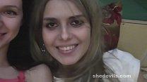 Homemade cam video of skinny Russian teens