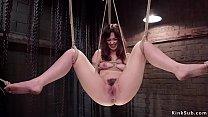 Hairy pussy slave Jodi Taylor in rope bondage g...