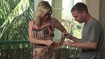 Watch Hot Blonde MILF Blows Stepson preview