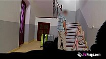 Blonde English gal pays for holidays the only w...