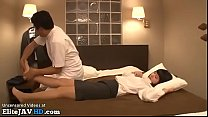 Jav massage with Milf in tights turns in sex