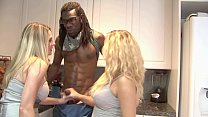 Watch Charming auntie Angela Attison and her pretty niece Britney Young enjoy fucking with ebony fellow with big schloeng preview
