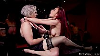 At swingers bdsm orgy party gagged ebony and bu...