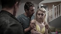 Young blonde stepdaughter DP fucked by dad and uncle صورة
