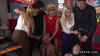  Two hot brunette Euro slaves Angel Rush and Ly...