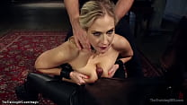 Bound blonde MILF Angel Allwood gets big boobs ...
