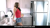 Sexy Brunette b.sitter (Evelin Stone) Takes Old...